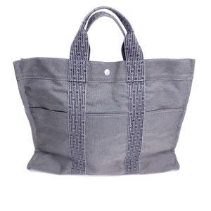 Hermes herline dark grey tote bag
